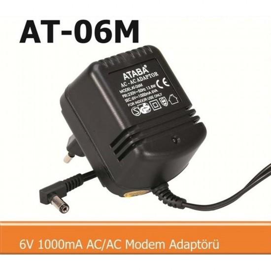 Ataba At-06m 6v 1000ma AC/AC Adaptör