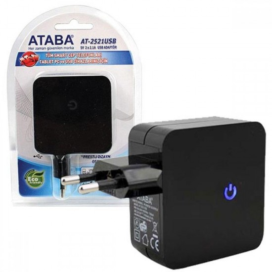 Ataba At-2521 5 Volt 2x2.1a Usb Adaptör