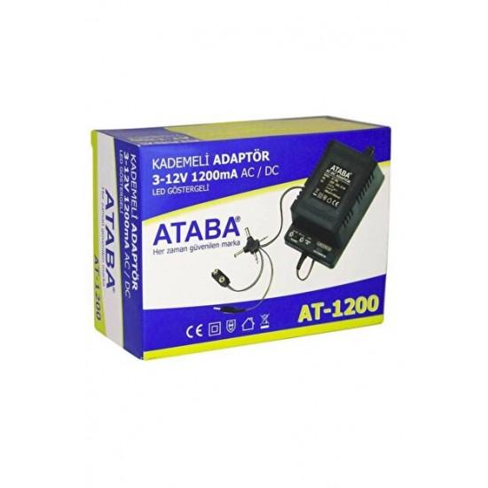 Ataba At-1200 3-12v 1200ma Adaptör