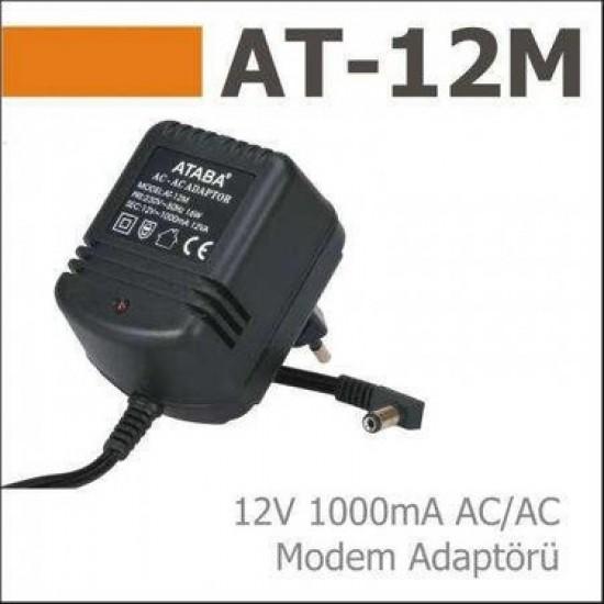 Ataba At-12m 12v 1000ma AC/AC Adaptör