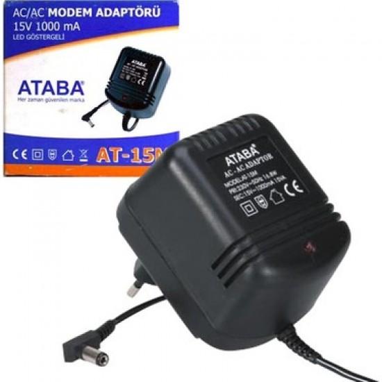 Ataba At-15m 15v 1000ma AC/AC Adaptör