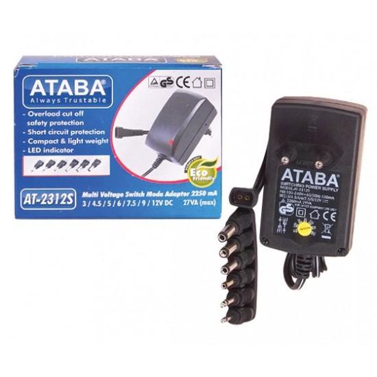 Ataba At-2312s 3-12v 2250 Ma Kademeli Adaptör
