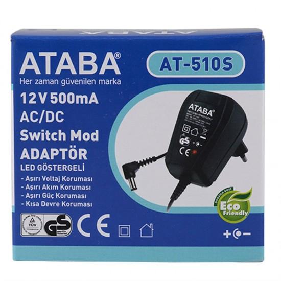 Ataba At-510s 12 Volt 500 Mah DC Adaptör
