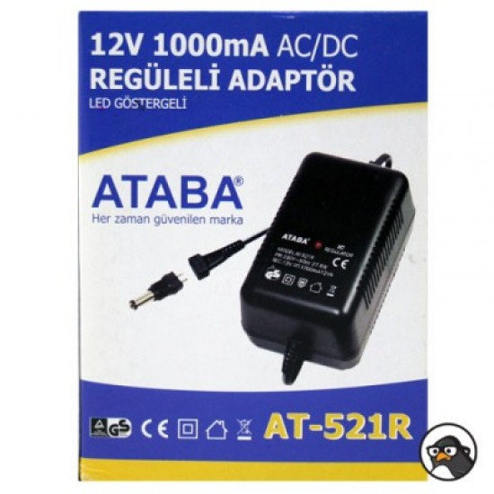 Ataba At-521r 12v 1000ma Regüleli Adaptör