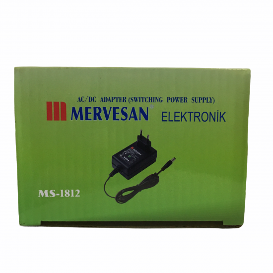 Mervesan Ms-1812 12v 1.5a Adaptör