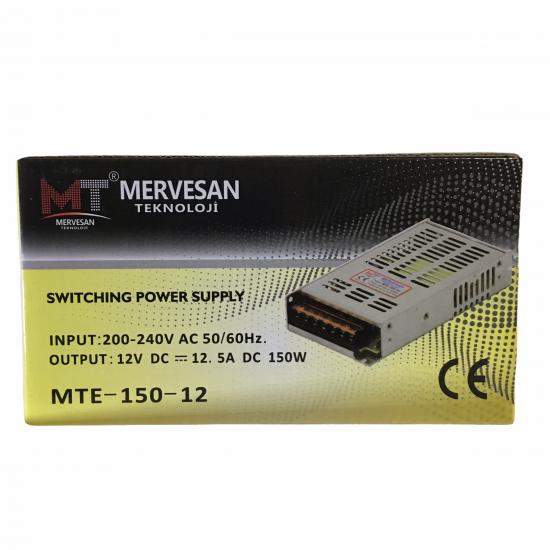 Mervesan Mte-150-12 12v 5a 150w Adptör