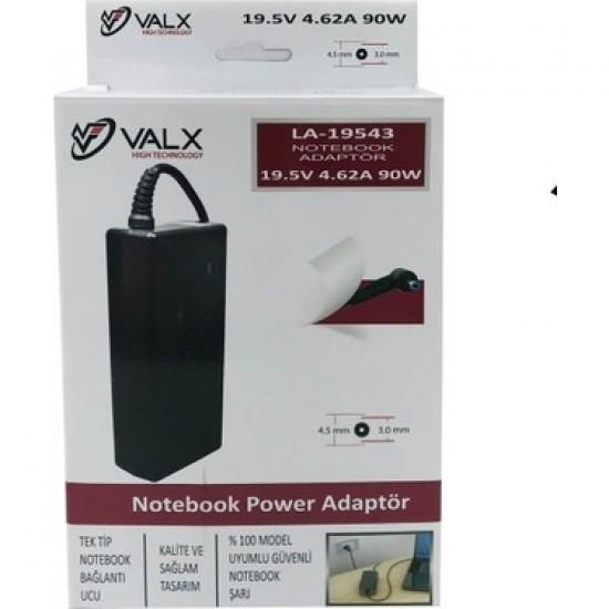 Valx La-19543 19.5v 4.62a 4.5x3.0mm Laptop Adaptör
