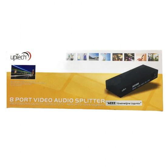 Uptech Av-1008 8 Port Audio/Video Dağıtıcı