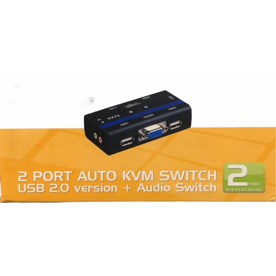 Uptech Kx-711 2 Port Usb Kvm+audio Switch