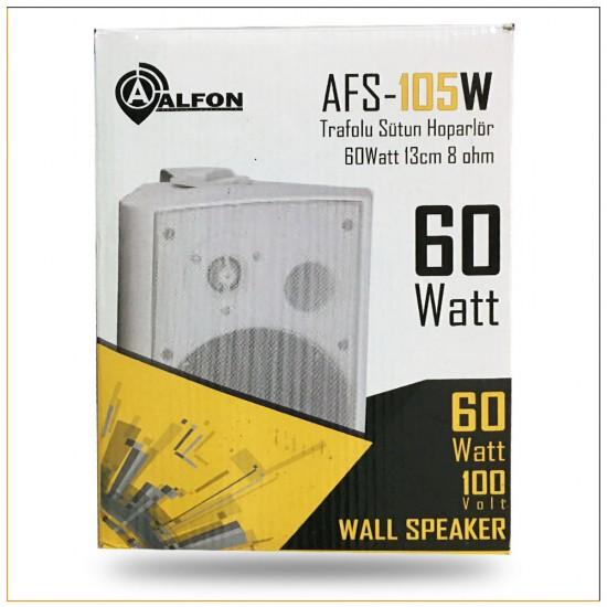 Alfon AFS-105W 13 cm 40-60 Watt Trafolu Beyaz Sütun Hoparlör