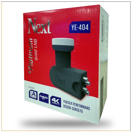 Next YE-404 Platinum Quad Dörtlü Full HD ve 4K Destekli LNB