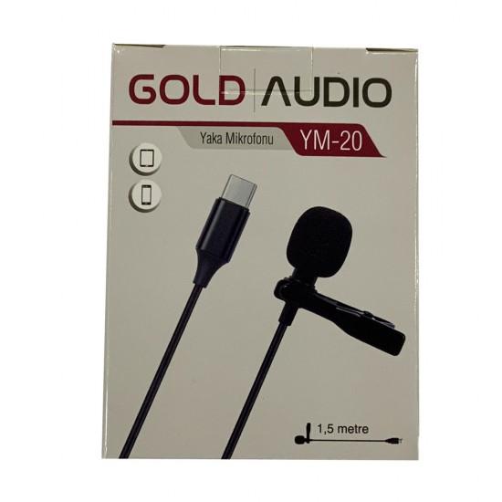 Gold Audio Ym-20 Type-C Yaka Mikrofonu