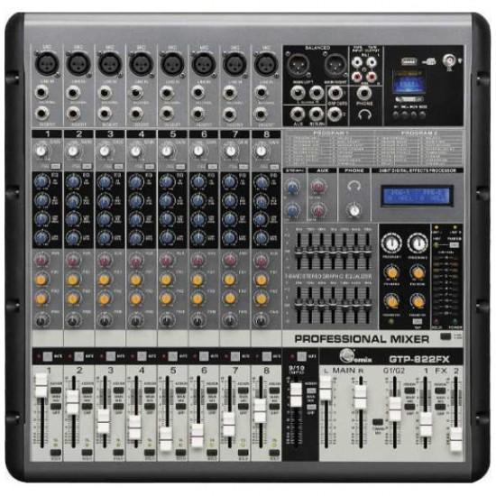 Fomix Gtp-822fx 8 kanal Mikser