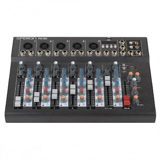 Spekon Fx-5u 5 Mikrofon Ve Usb Girişli Ses Kayıt Mikseri