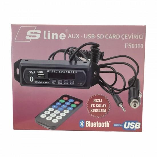 Sline FS0310 Aux-usb-sd Kart Çevirici