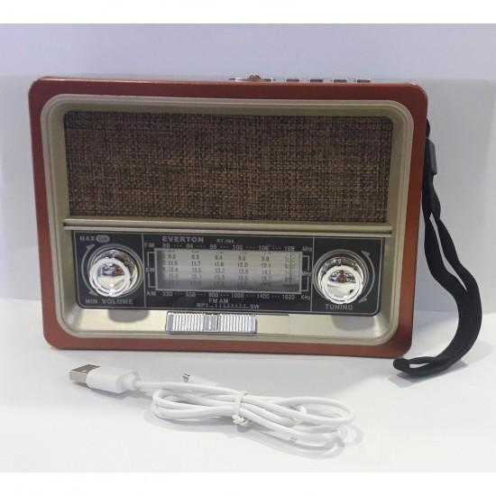 Everton Rt-305bt Usb/sd/fm/bluetooth Destekli Nostaljik Radyo