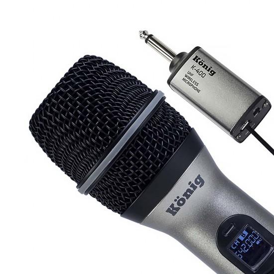 König K-400 Şarjlı Telsiz El Mikrofonu