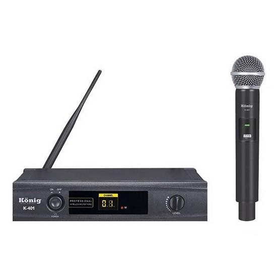 König K-401 El Uhf Tek Kanal Kablosuz El Mikrofonu