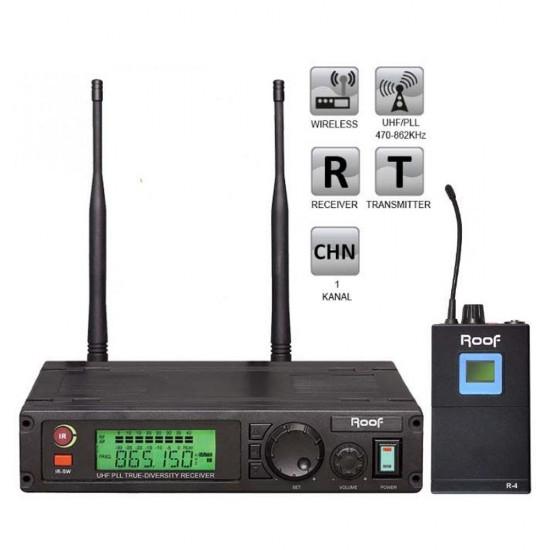 Roof R-1100 (1 Yaka) Tek Kanal Kablosuz Mikrofon