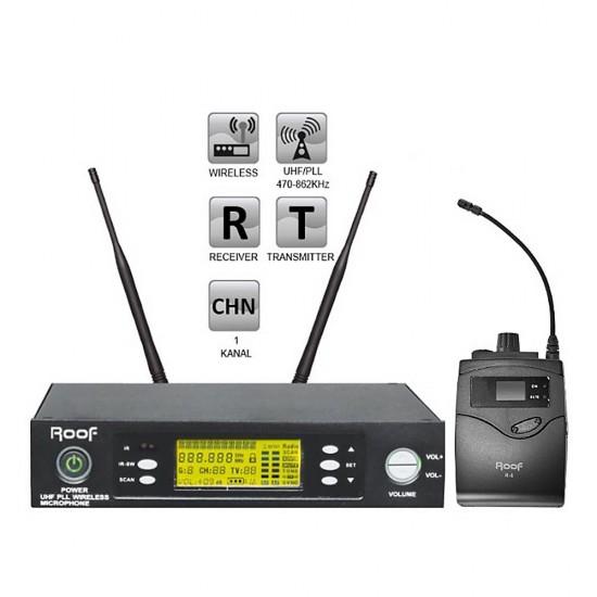 Roof R-1150S (1 Yaka) Tek Kanal Kablosuz Mikrofon