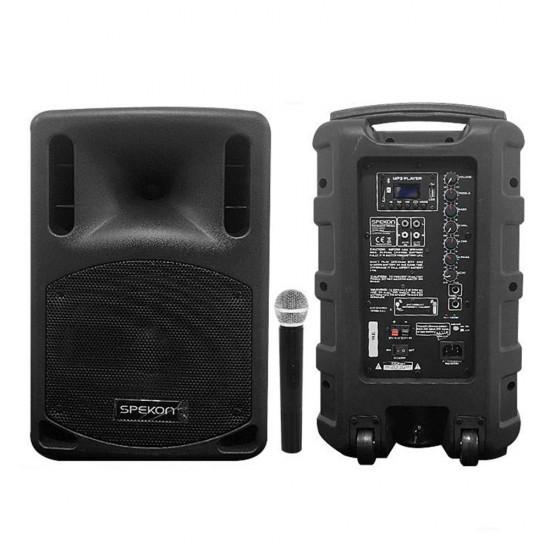 Spekon Mob-8 Portatif Aktif Hoparlör (El Mikrofonlu)