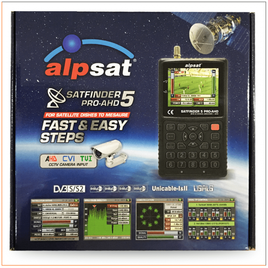 Alpsat Satfinder 5 Pro-AHD Uydu Yön Bulucu